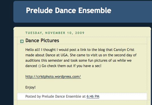 Prelude blog