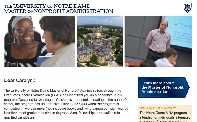 Notre Dame program
