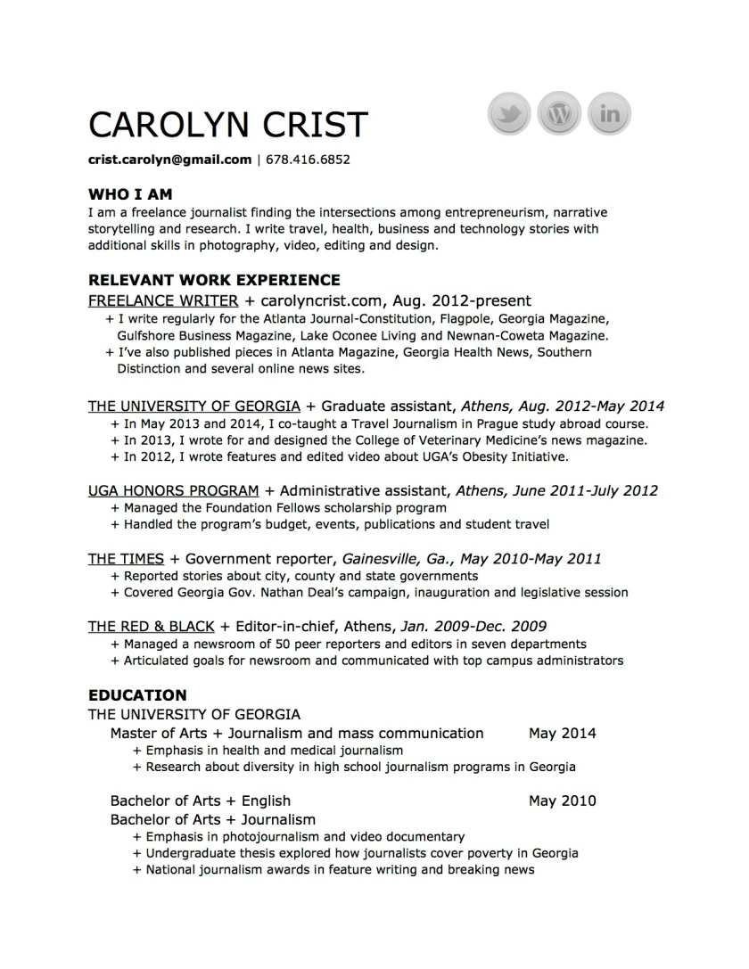 CarolynCrist-resume-July2014