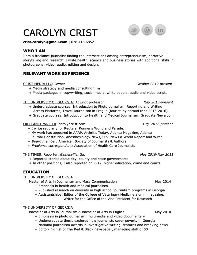 CarolynCrist-resume-February2020